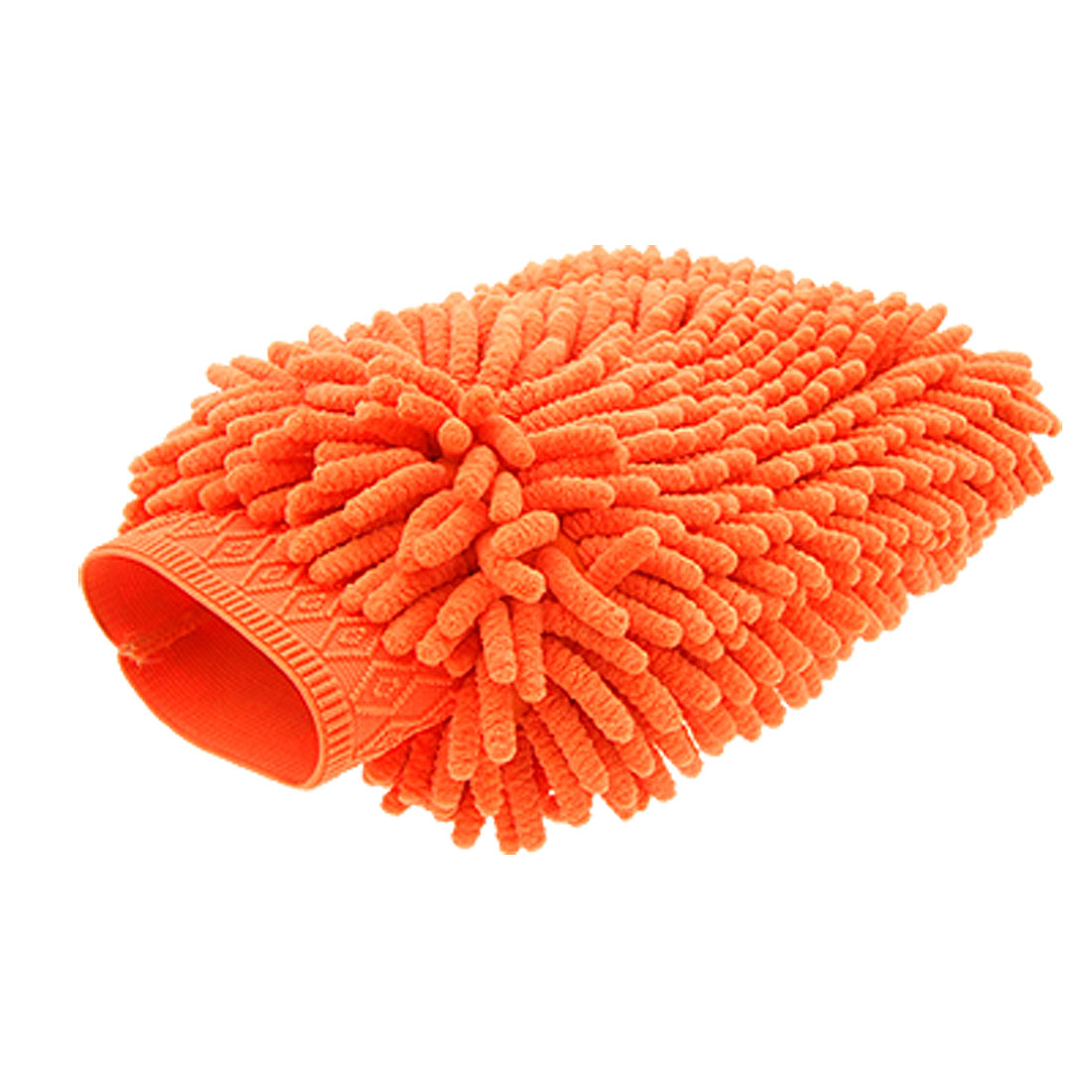 Microfiber Car Auto Washing Cleaning Glove Wash Mitt Water Absorptive Orange