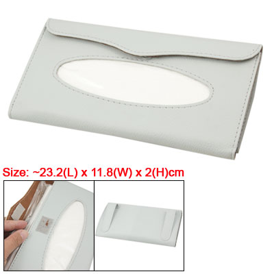 Faux Leather Tissue Holder Case Cover for Car Auto