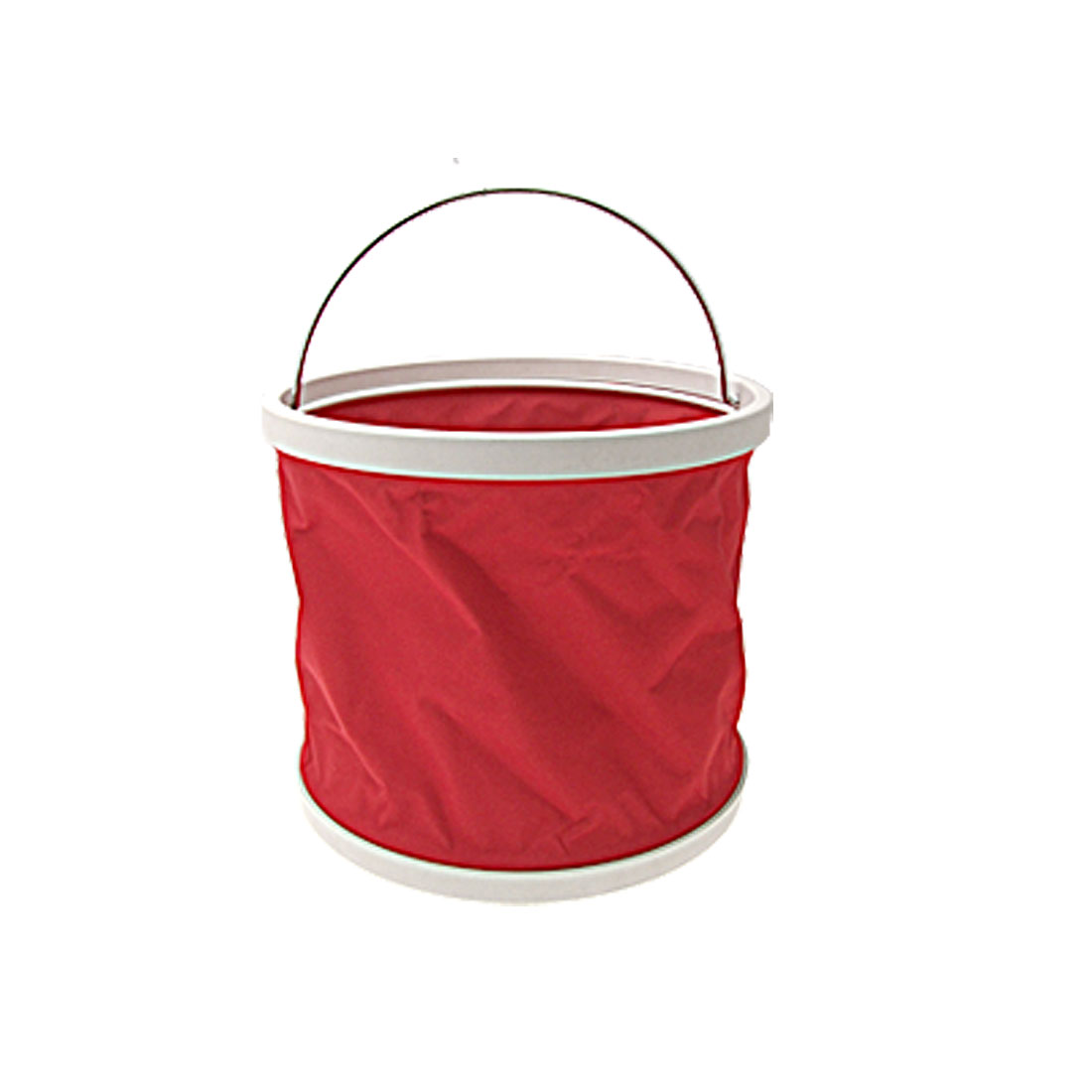 9L Red Folding Water Bucket for Fishing