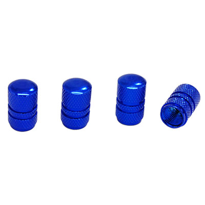 4 PCS Metal Car Auto Tire Valve Stem Covers Caps Blue