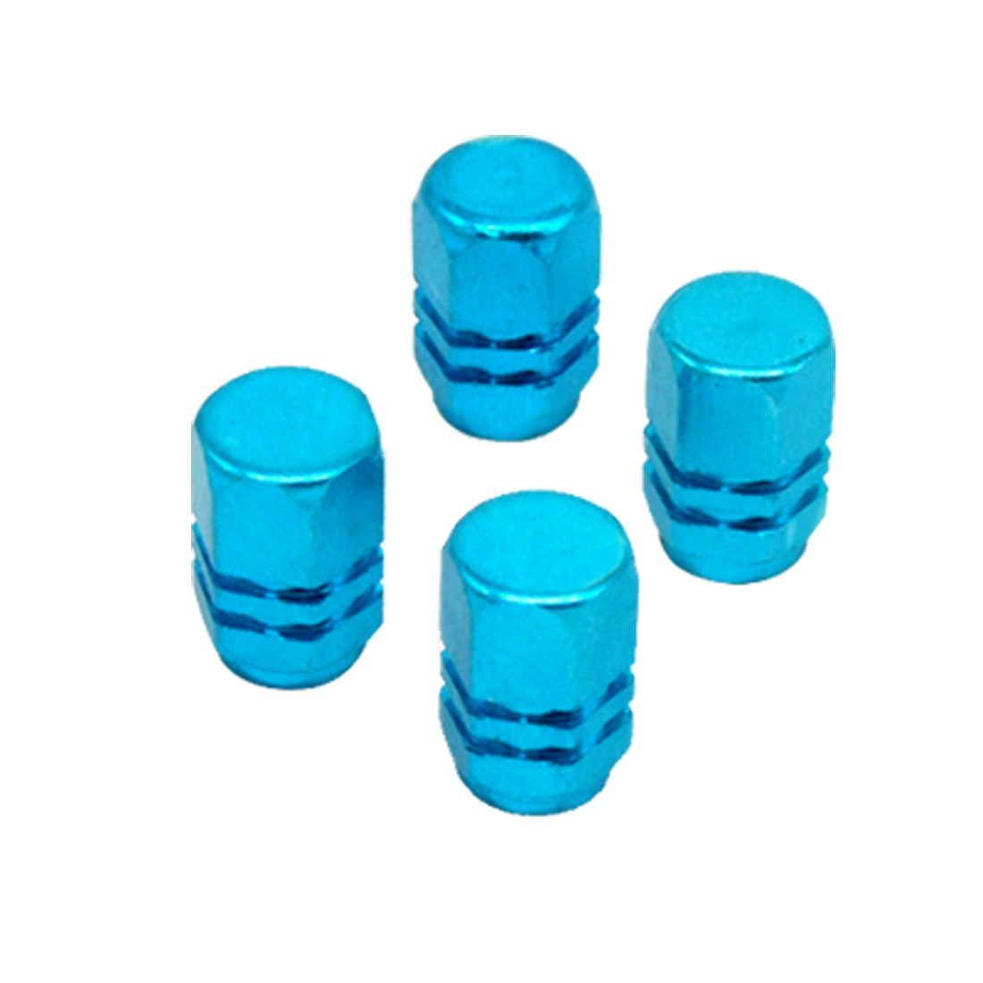 4 PCS Tyre Tire Valve Stem Covers Caps Blue for Car Auto