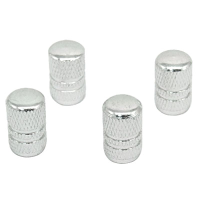 Silvery Car Auto Tyre Tire Valve Stem Covers Caps 4 PCS
