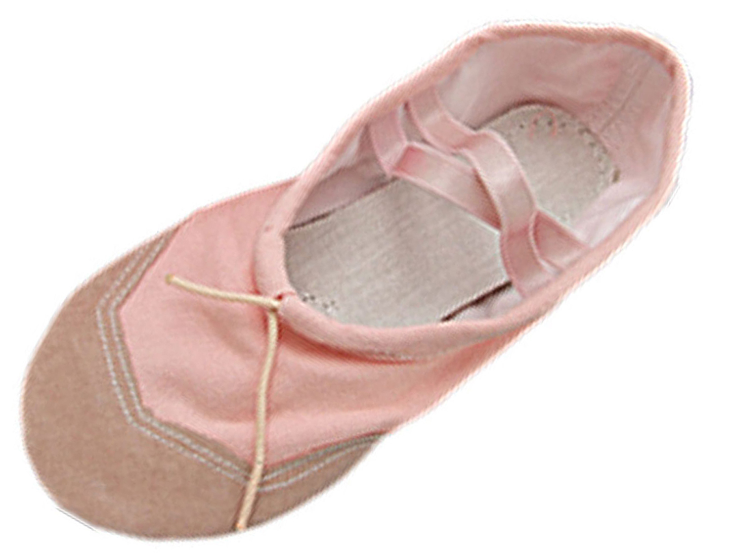 Pink Soft Fabric Dancing Dacing Ballet Ladies' Shoes Size 8.5