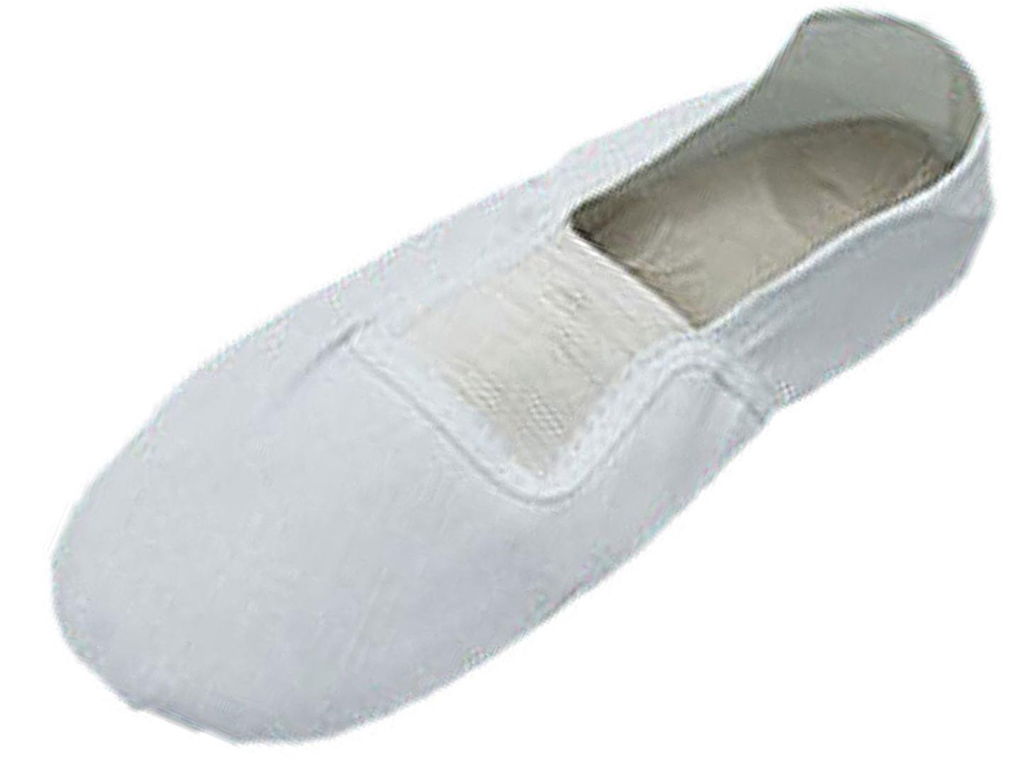 Elastic Band White Dancing Dance Shoes Size 11.5 Fjwex