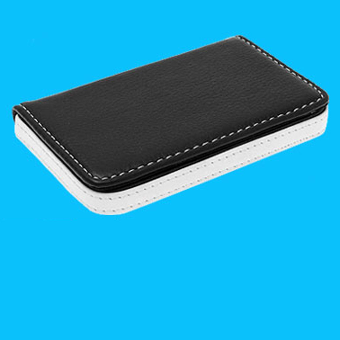 Slim Black Leather Business Credit Card Case Holder