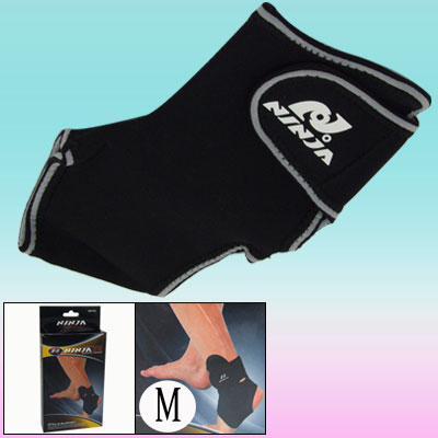 Neoprene Sports Hook and Loop Fastener Fasten Ankle Support Protetcor Size M