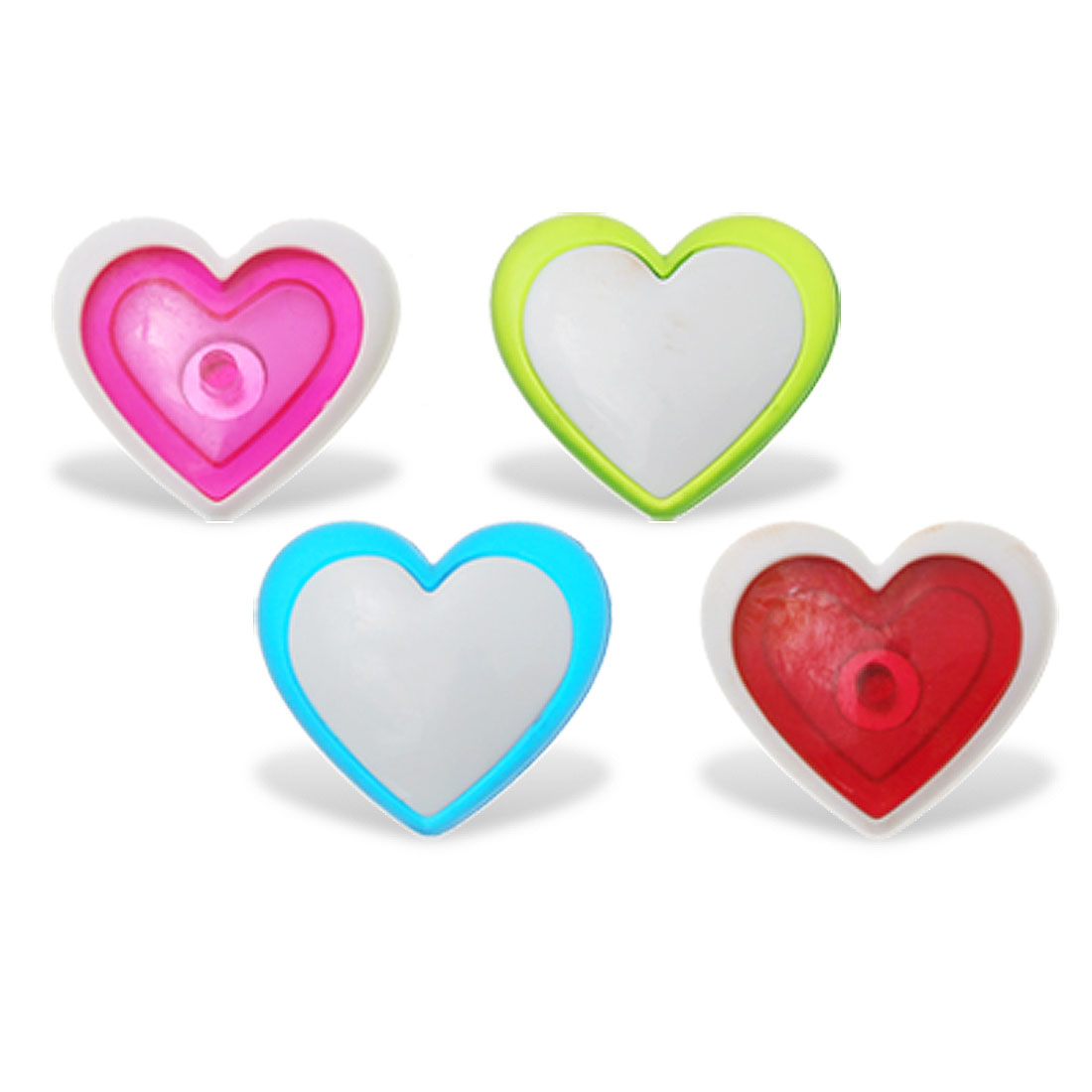 Heart Shaped Four Different Color Magnetic Sticker for Refrigerator