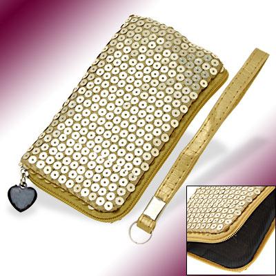 Slim Golden Glittery Purse Bag Holder Pouch for Golden Purse Bag