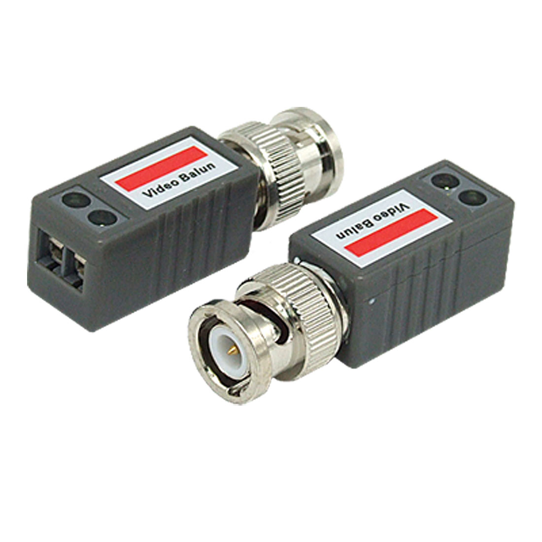 2 Pcs CCTV Passive Video Balun UTP BNC Cat5 Transceiver Adapter