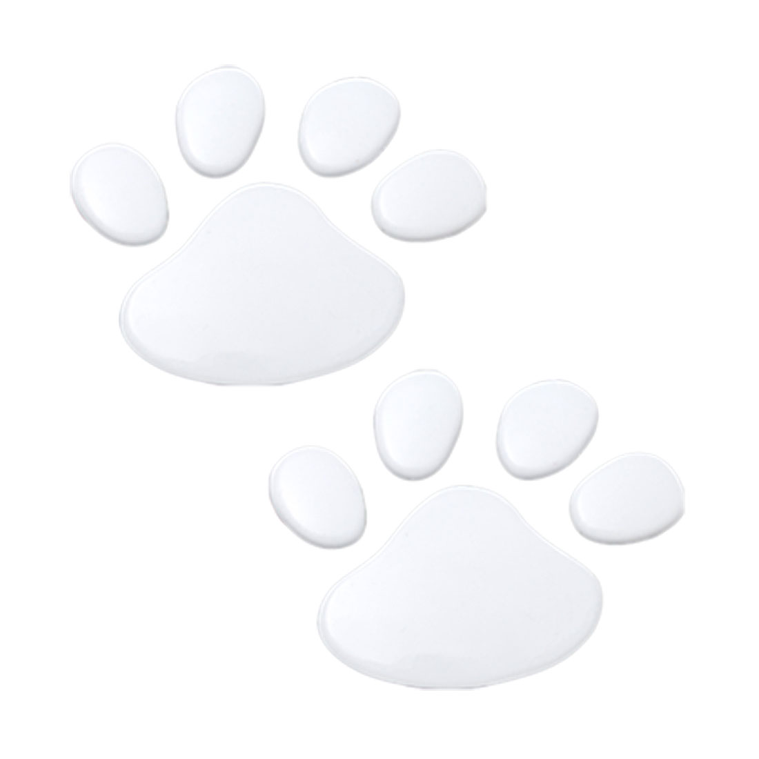 Dog Footprint Car Auto Emblems Badges Stickers Silver Tone