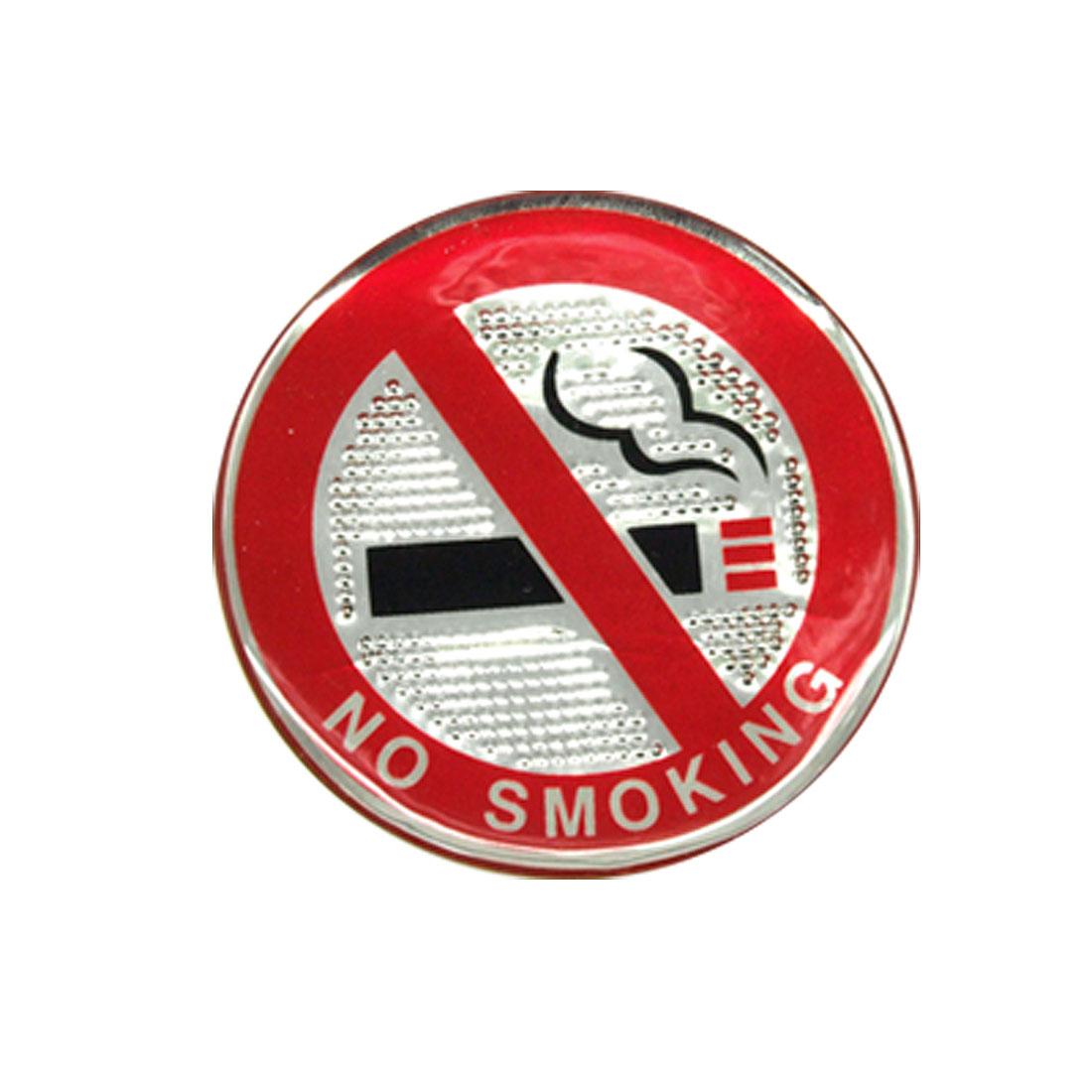 Car Soft Plastic No Smoking Sign Sticker