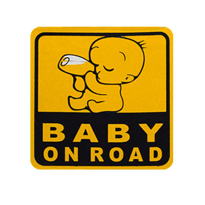 Baby on Road Car Safety Sign Auto Warning Decal Sticker