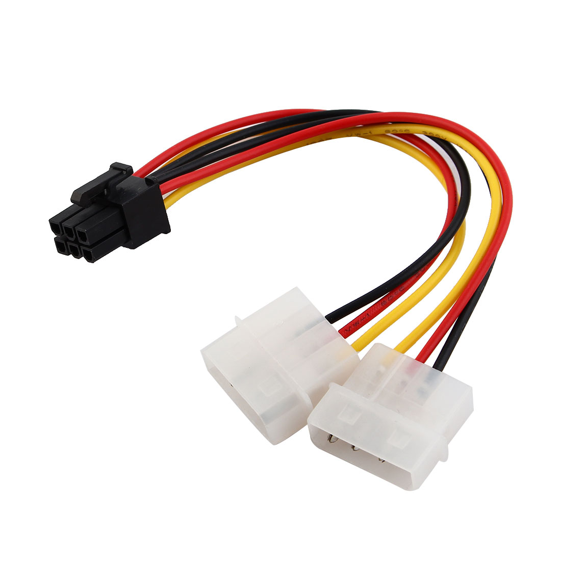 6 Pin PCI Express to Two 4 Pin Power Adapter Cable