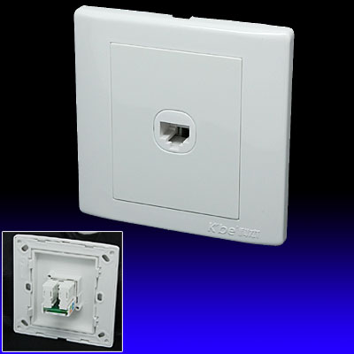 1 Gang 8 Pin RJ45 Network Outlet Wall Plate Cover
