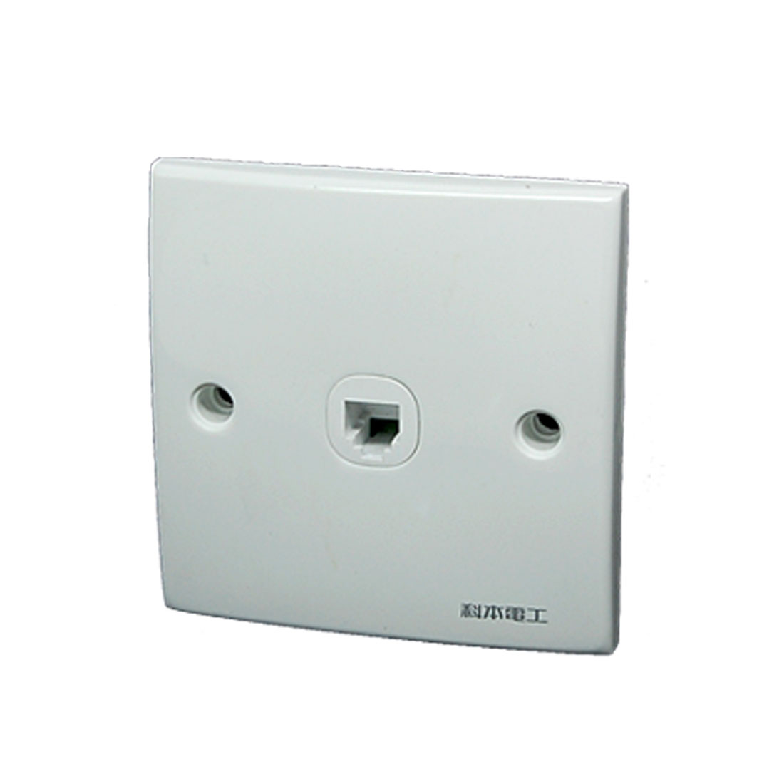 1 Gang 4 Pin RJ11 Telephone Outlet Wall Mount Plate