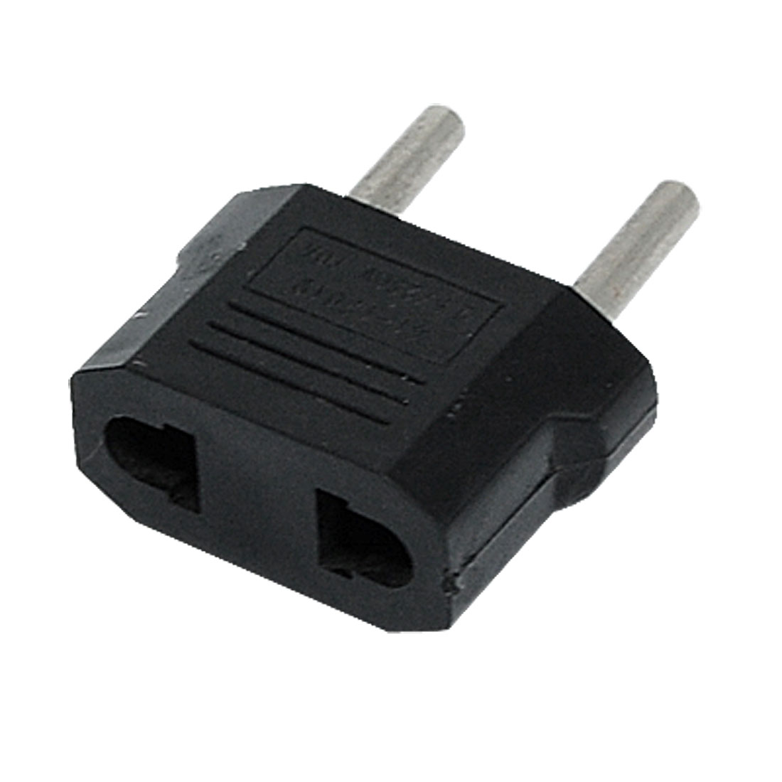 EU Plug 250VAC 10A to EU US Socket Travel Power Adapter Black