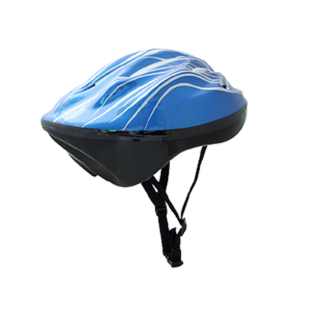 Unisex Cycling Skateboard Helmet Armet Blue Silver Tone