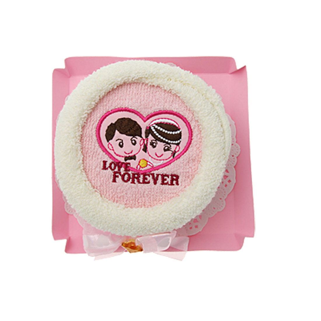 Gift Cotton Bathing Towel Facecloth Washcloth w/ Lovers Pattern