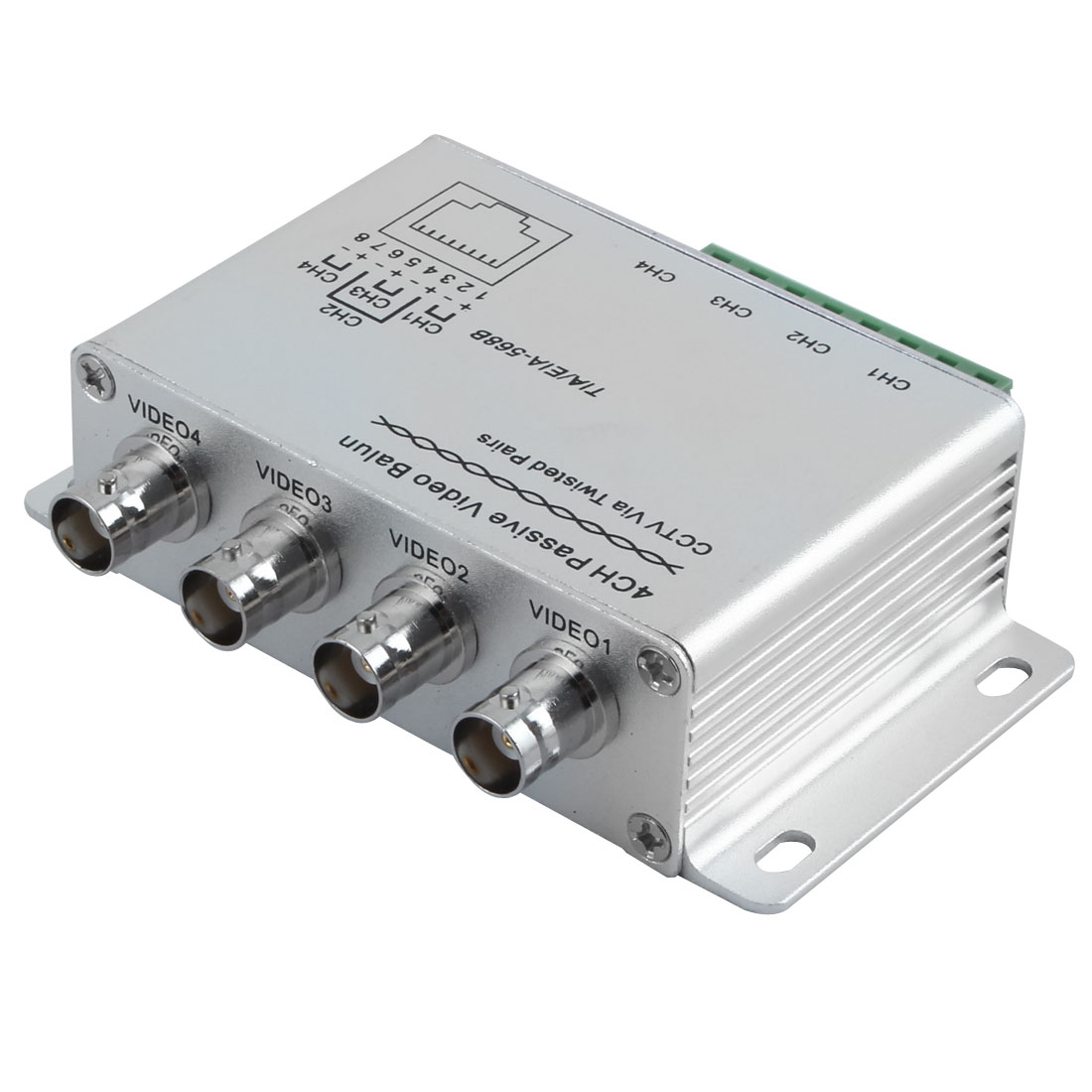 UTP 4 Channel Passive Video Balun Transceiver