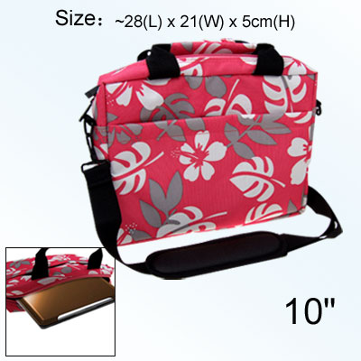 Pink Anti-shock Handbag Carrying Case for 10 Inch Notebook Laptop