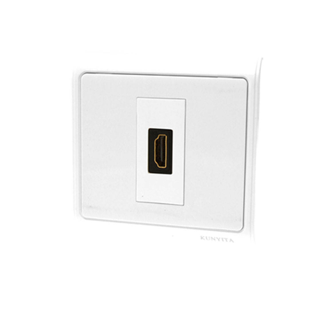 HDMI Wall Plate Panel Cover with Single Port Outlet