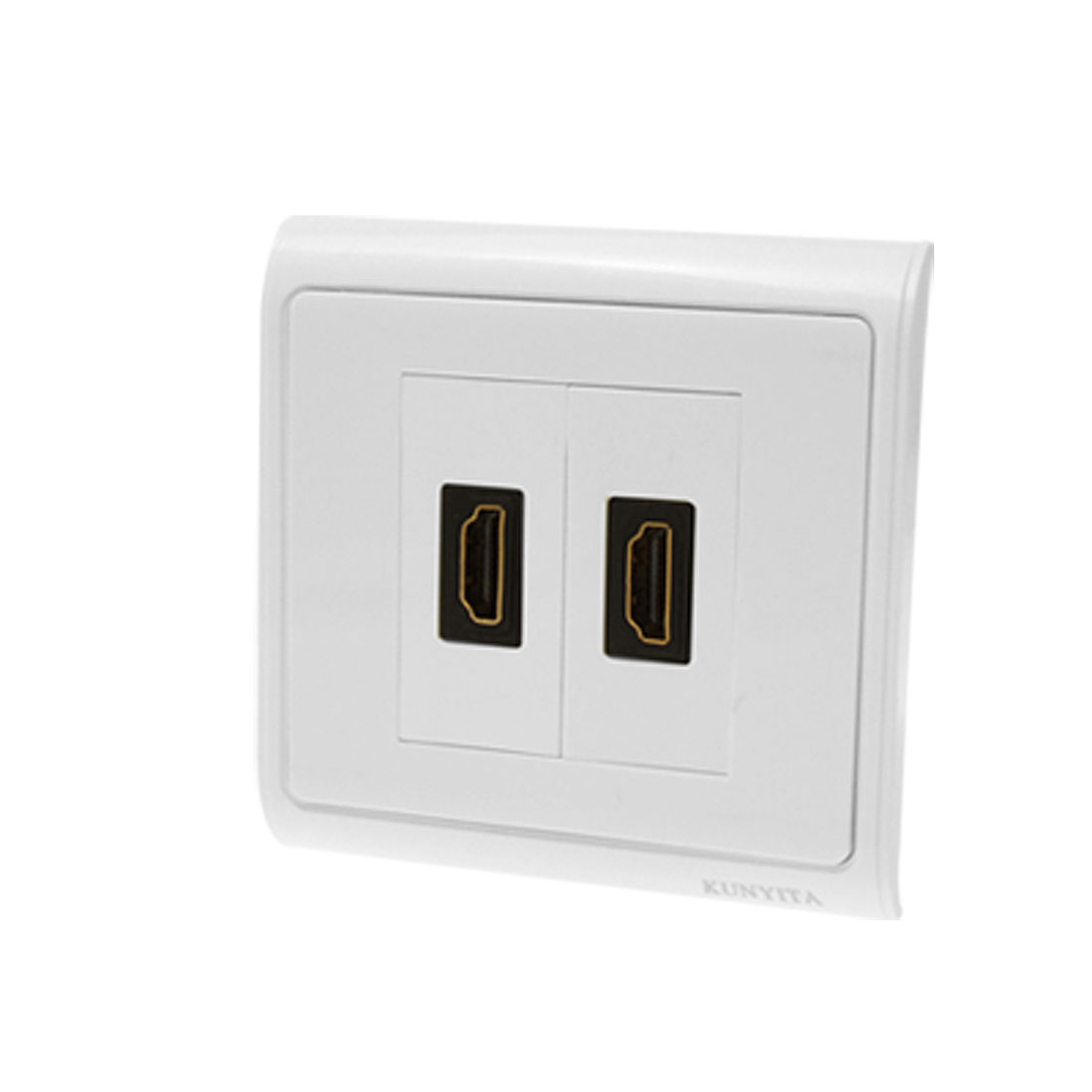 HDMI Wall Plate Two Female Port Outlet Panel Cover