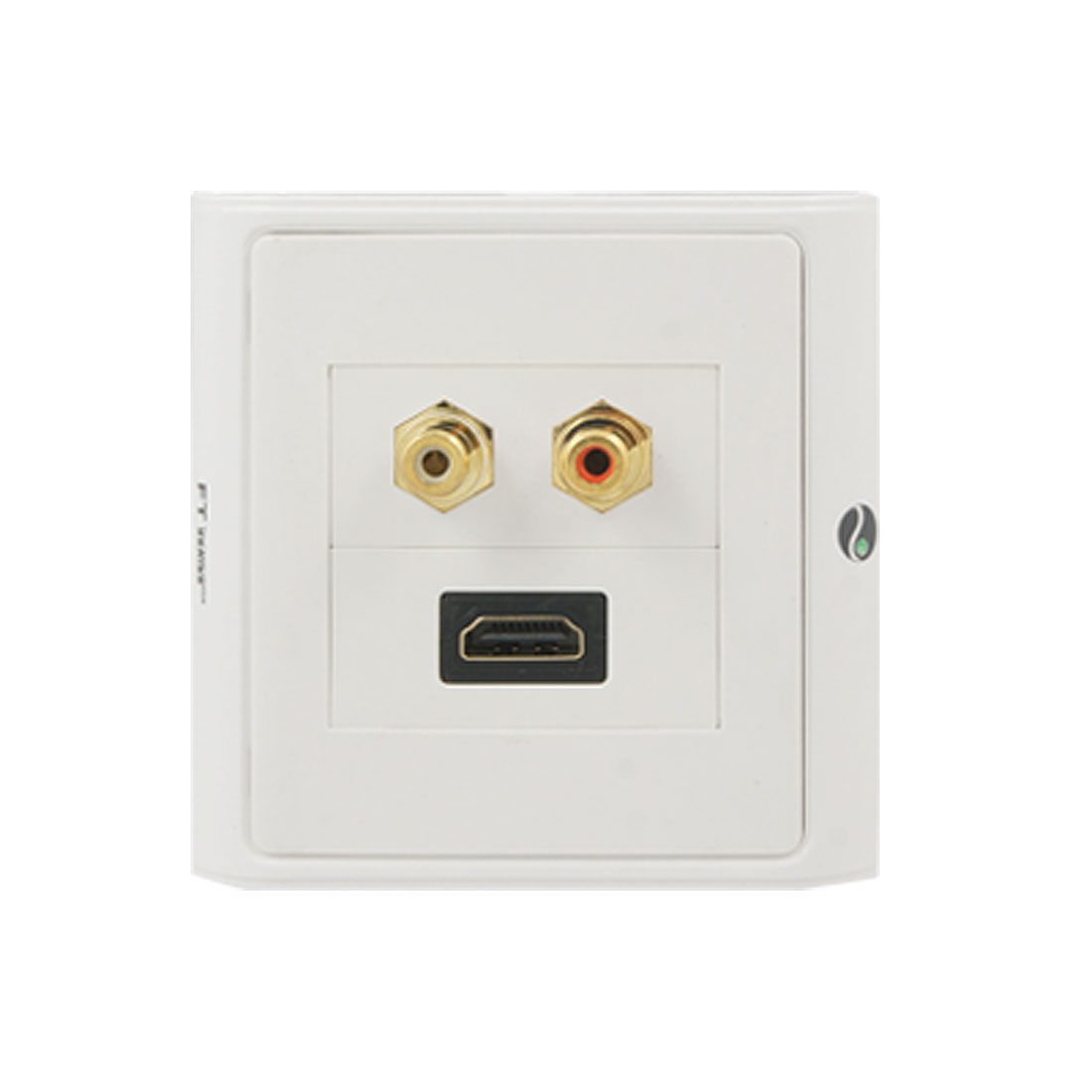 Audio Video 2 RCA Wall Plate and 1 HDMI Wall Plate