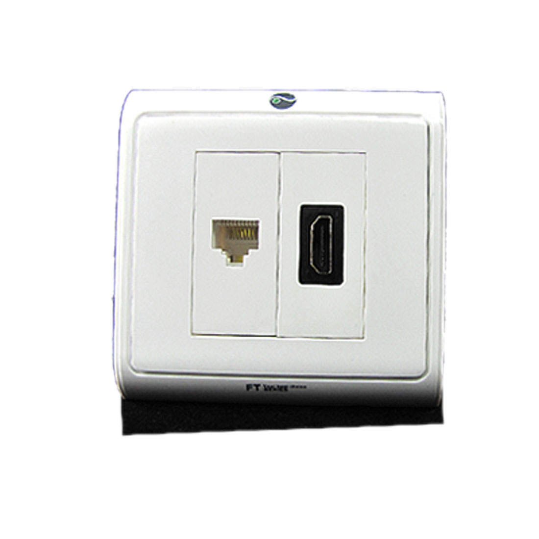 HDMI RJ45 Network Outlet Wall Plate Panel Cover White