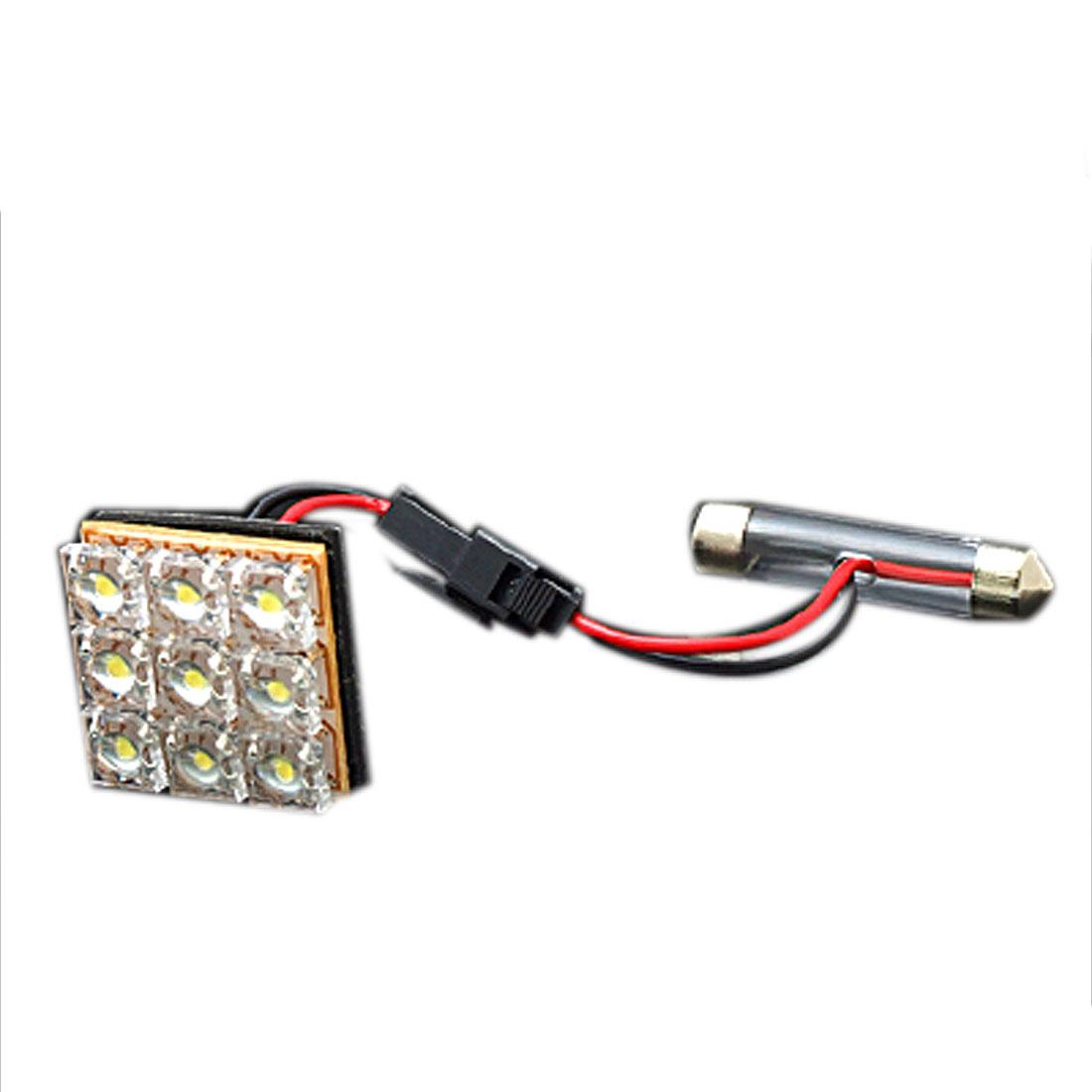 White 9 LED Auto Car Interior Dome/Door/Box Light Lamp Bulb