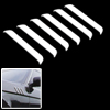 White Car Auto Door Decorative Bumper Guard Protector 6 Pieces