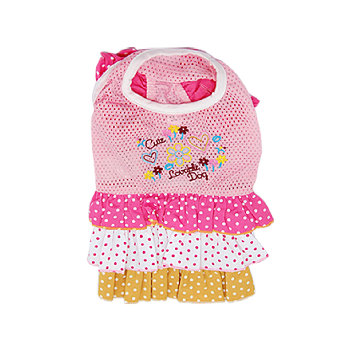 Lovely Chihuahua Pet Dog Clothes Dress Skirts Pink Shirts Multi colors Size 1