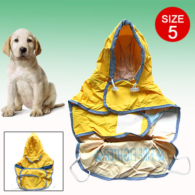 Size 5 Doggie Doggle Reflective Fire Fighter Raincoat Dog Clothes Rain Coat