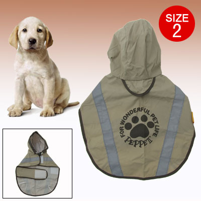 Waterproof Polyester Raincoat Jacket Pet Dog Cat Rain Jacket Size 2Waterproof Polyester Night Reflective Raincoat Jacket Pet Dog Cat Rain Jacket Size