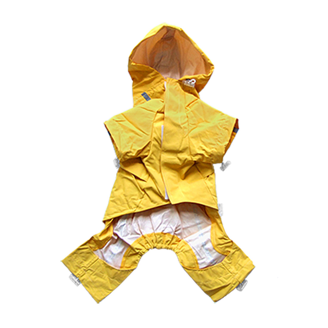 Yellow Puppy Pet Dog Clothes Raincoat Jacket Waterproof Coat Apparel Size 2