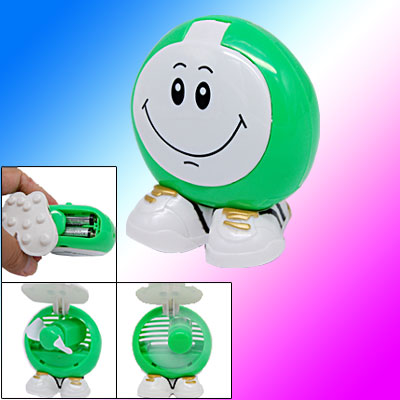 Round Foldable Smiley Cartoon Fan Personal Shopping
