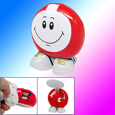 Red White Shopping Mini Fan Foldable for Personal Use
