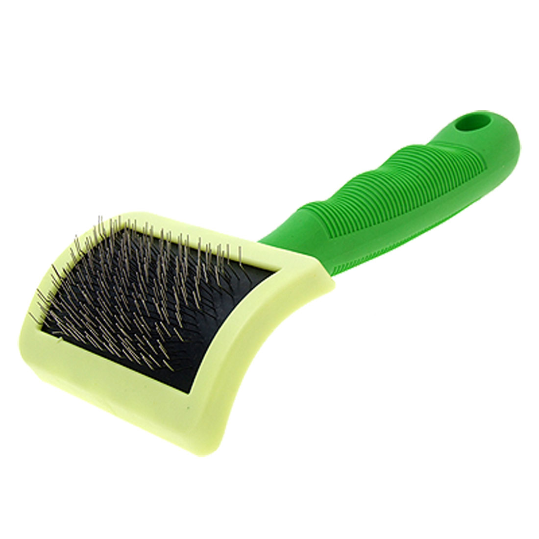 Green Handle Pet Dog Cat Bristles Grooming Brush
