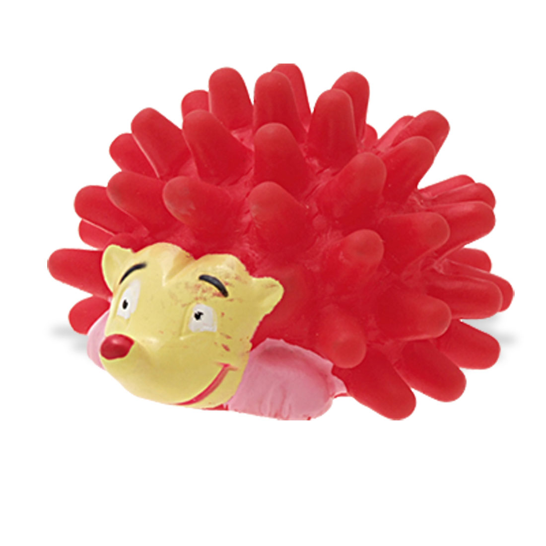 Squeaker Red Vinyl Hedgehog Pattern Pet Dog & Cat Toy