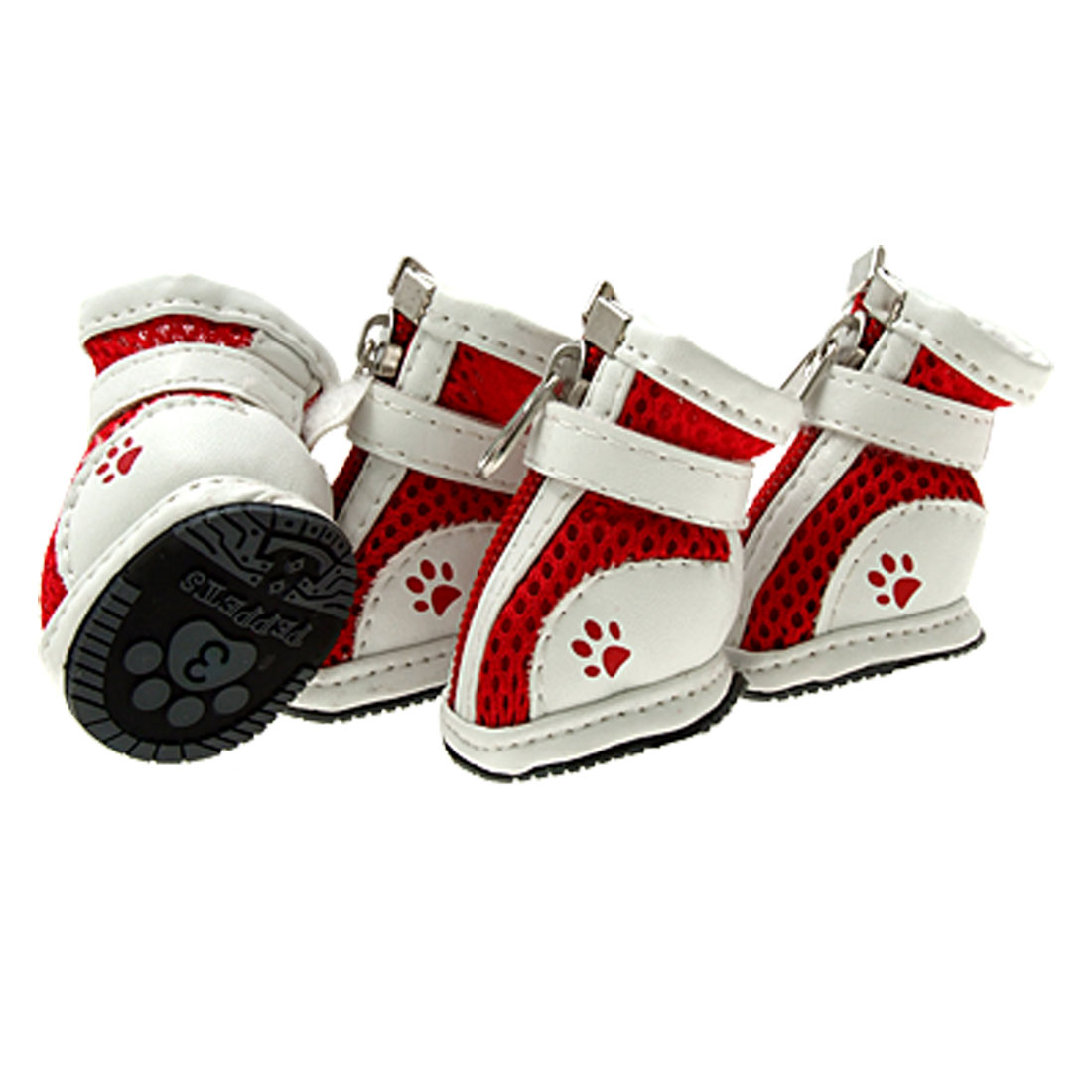 Red Cute Pet Protective Boot Mesh Sport Dog Shoes 3#