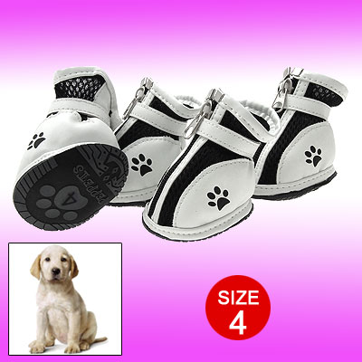 Black Cute Pet Protective Boot Mesh Sport Dog Shoes 4#