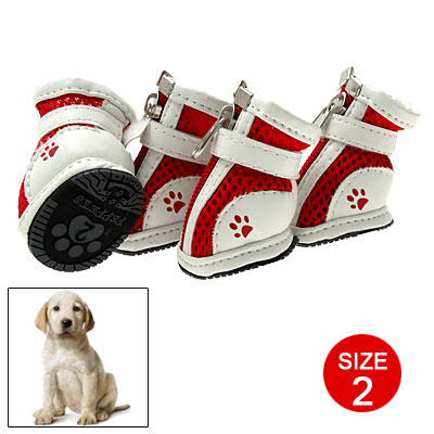 2# Cute Puppy Pet Protective Boot Mesh Sport Dog Shoes
