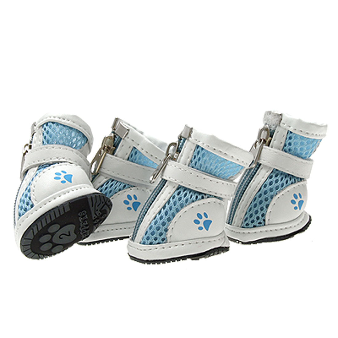 Fashion Small Protective Paw Boot Light Blue Pet Dog Shoes 2#