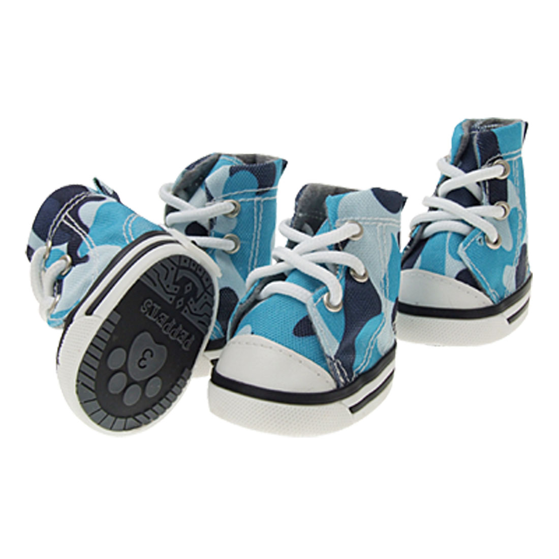 Cute Blue Army Camouflage Pet Dog Protective Boot Shoes