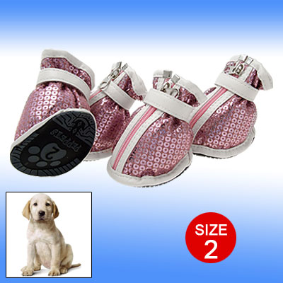 Pink Dazzling Protective Boot Pet Sport Dog Shoes 2#