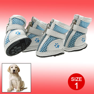 Light Blue Fashion Small Protective Pet Paw Boot Dog Shoes 1#