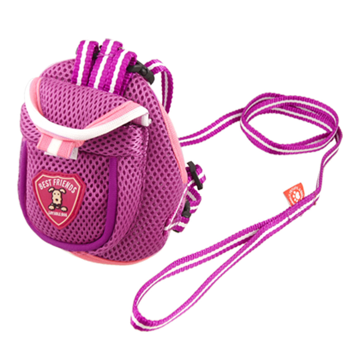 Pet Doggie Puppy Cat Bag Backpack Harness with Leash Set Size S