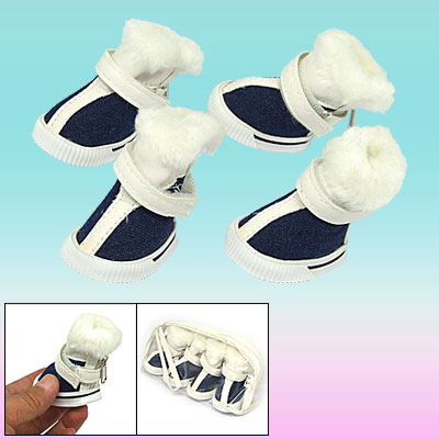 Cute Plush Design Winter Protective Pet Boot Dog Shoes