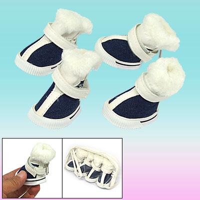 Cute Plush Design Winter Protective Pet Boot Dog Shoes