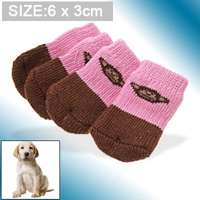 Cute Cotton Monkey Pattern Puppy Dog Socks (6 x 3cm)