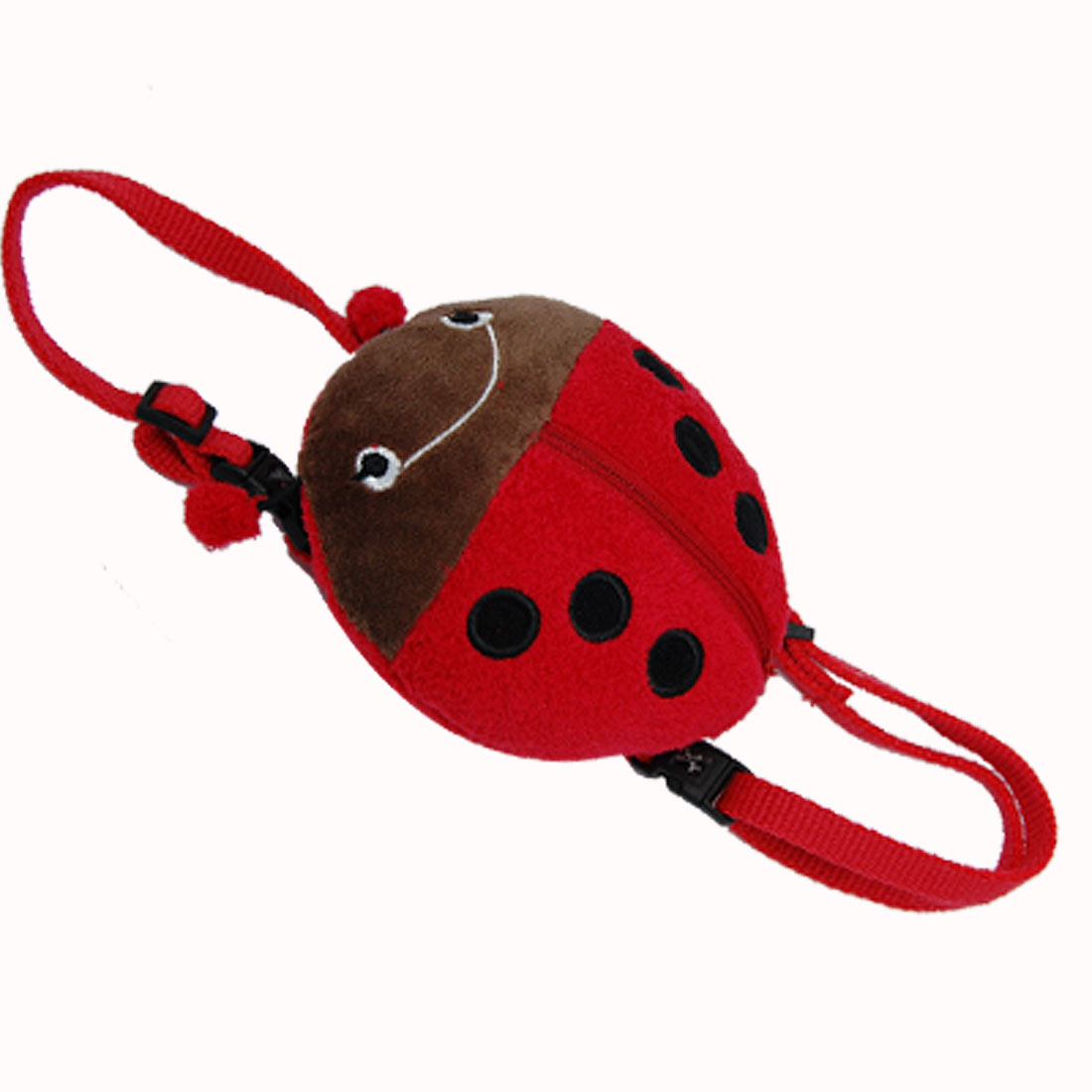 Red Ladybird Ladybug Pattern Dog Doggie Puppy Knapsack Pack & Leash